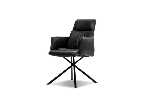 Chavez Dining Armchair - Midnight Grey