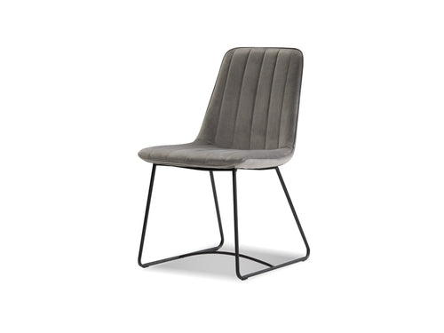 Zipper Dining Chair Pewter