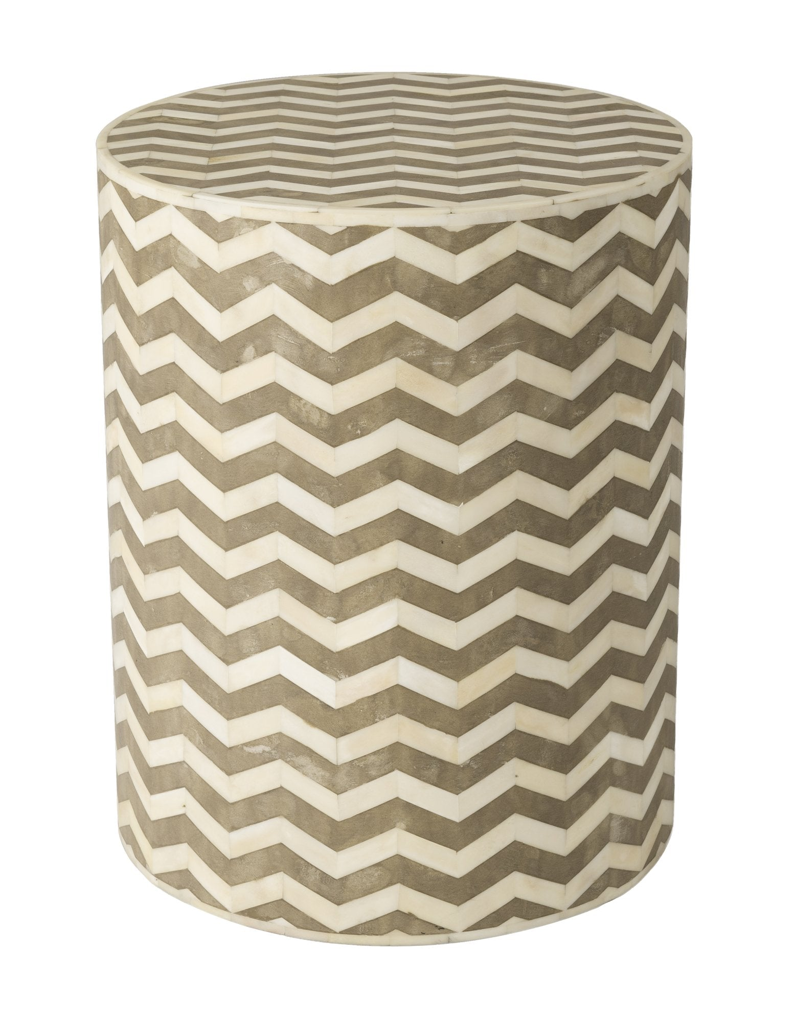 Picture of 5th Avenue Round Side Table - Chevron