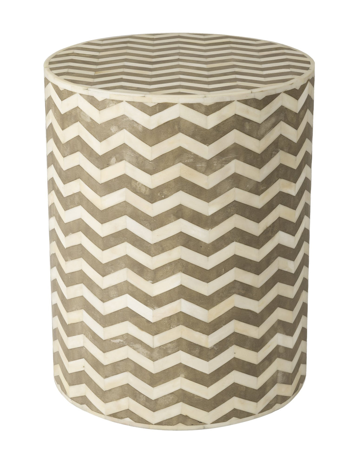 5th Avenue Round Side Table - Chevron