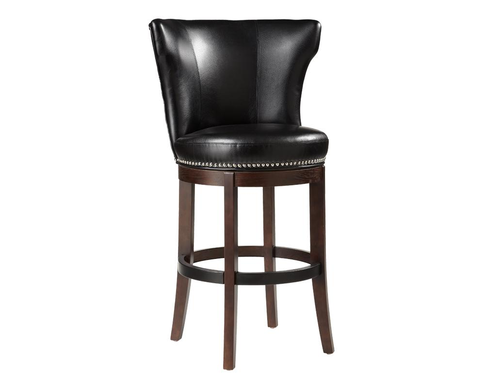 Tavern Swivel Barstool - Black