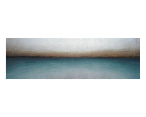 "Teal Haze - 72"" X 22"" - Gallery Wrapped"