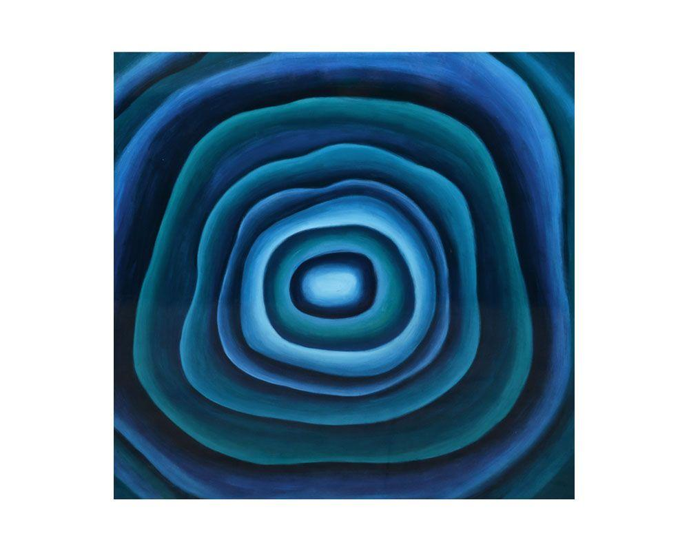 "Picture of Blue Agate - 40"" x 40"" - Gallery Wrapped"
