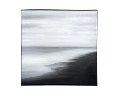 "The Shoreline - 60"" X 60"" - Black Floater Frame"