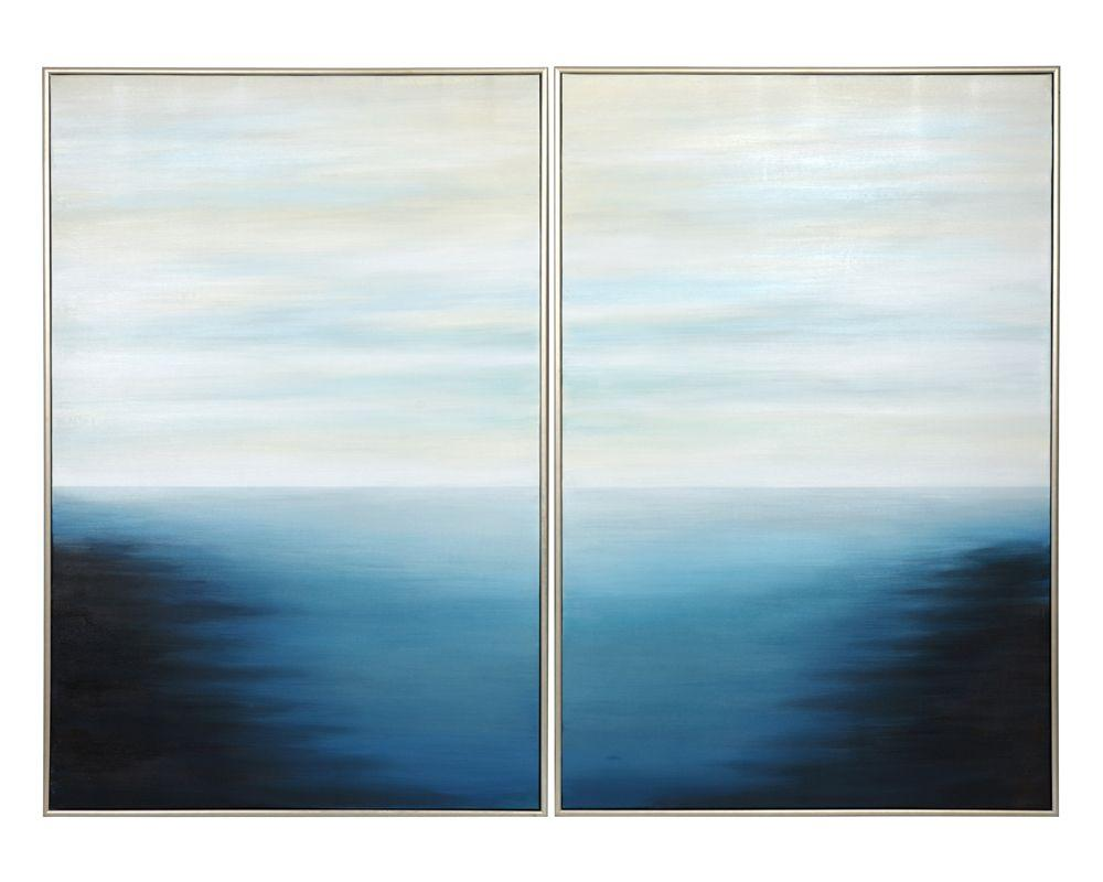 "Picture of Below the Surface (Set of 2) - 40"" x 60"" - Silver Floater Frame"