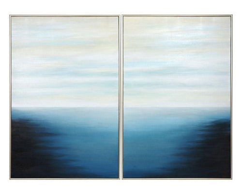 "Below the Surface (Set of 2) - 40"" x 60"" - Silver Floater Frame"