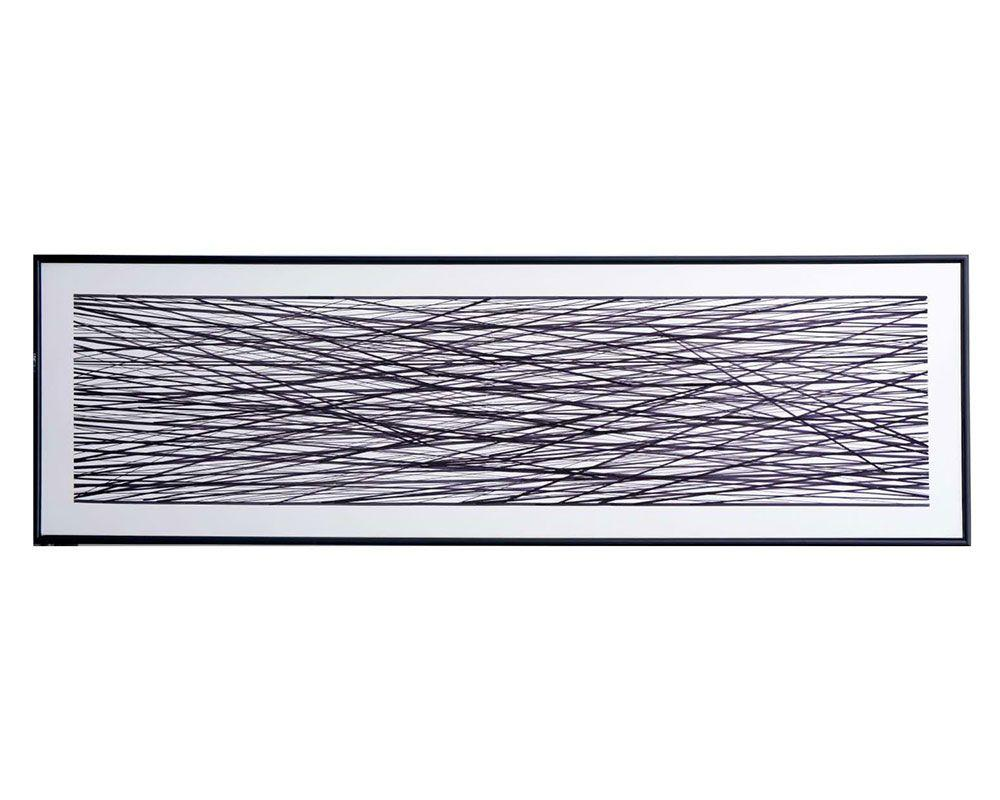 "Picture of Midnight Meadow - 72"" X 22"" - Black Floater Frame"