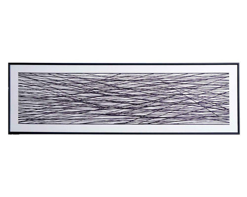 "Midnight Meadow - 72"" X 22"" - Black Floater Frame"