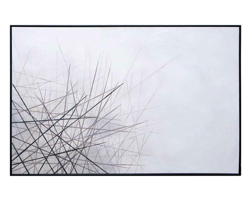 "Fleeting Wish - 72"" X 48"" - Black Floater Frame"