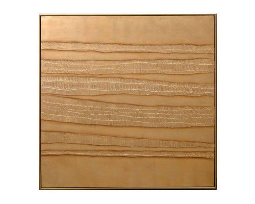"Gold Tender - 48"" X 48"" - Gold Floater Frame"