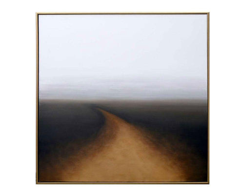 "Autumn Silence - 48"" x 48"" - Gold Floater Frame"