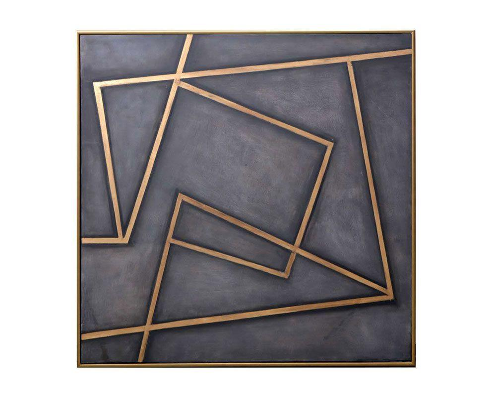 "Picture of In a Maze - 60"" X 60"" - Gold Floater Frame"