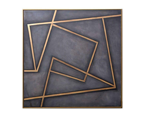 "In a Maze - 60"" X 60"" - Gold Floater Frame"