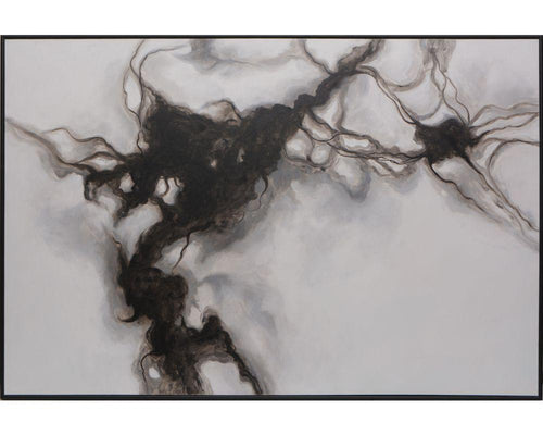 "Smoke Screen - 72"" X 48"" - Black Floater Frame"