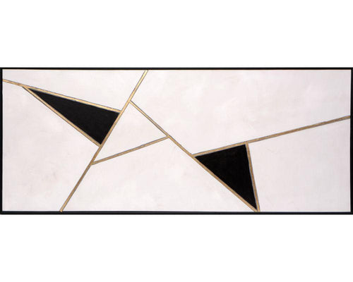 "Geometric Relation - 72"" X 30"" - Black Floater Frame"