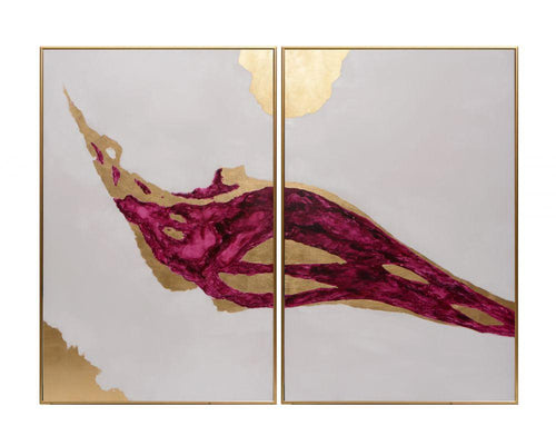 "Passion (Set of 2) - 40"" X 60"" - Gold Floater Frame"