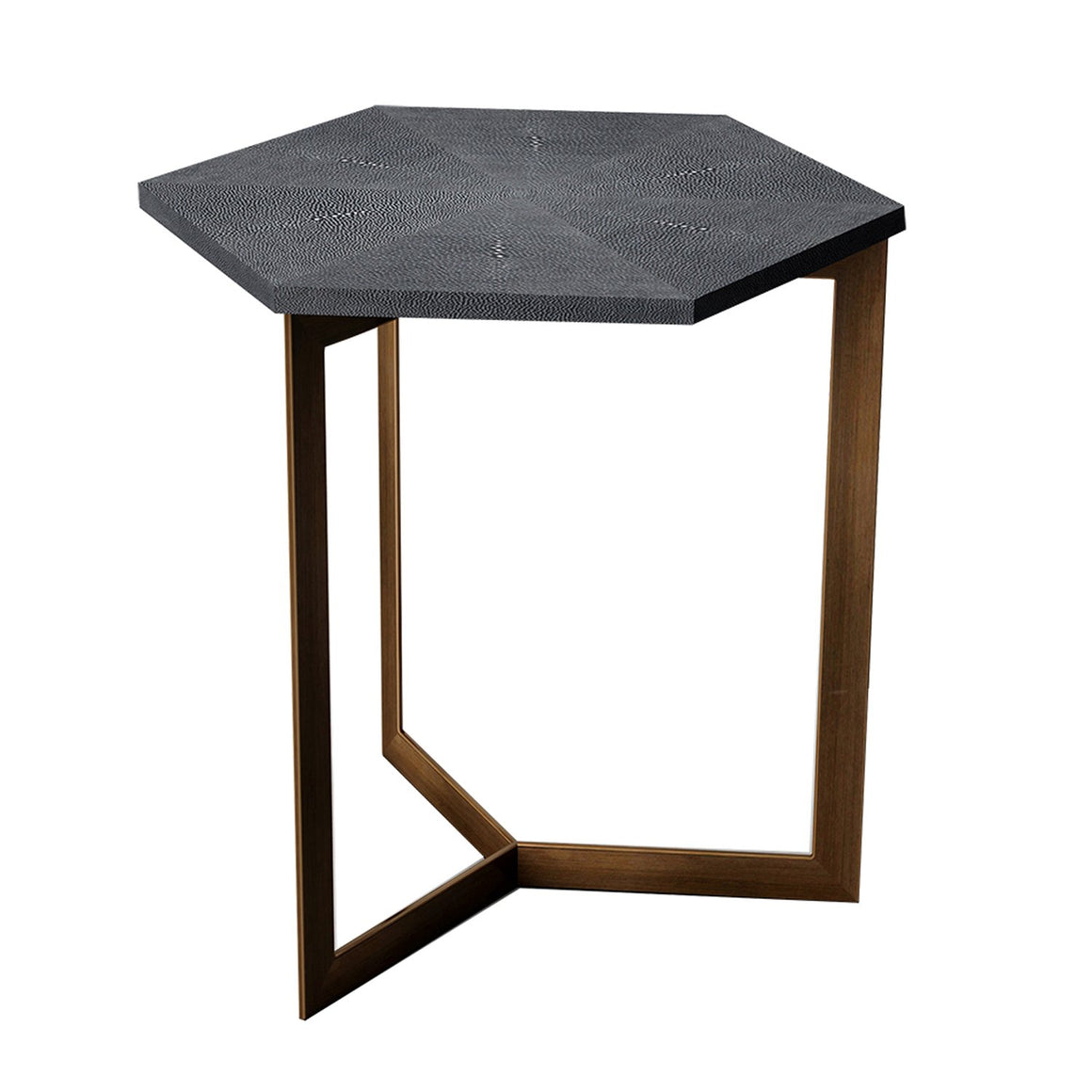 Ambiente Shagreen Hexagon Side Table