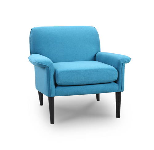 Modern Blue Fabric Arm Chair
