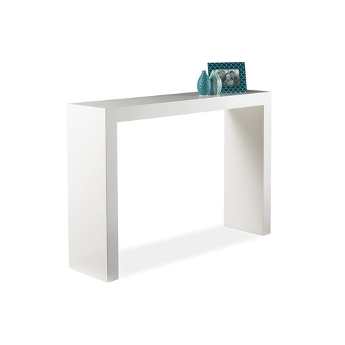 Modern High Gloss White Console