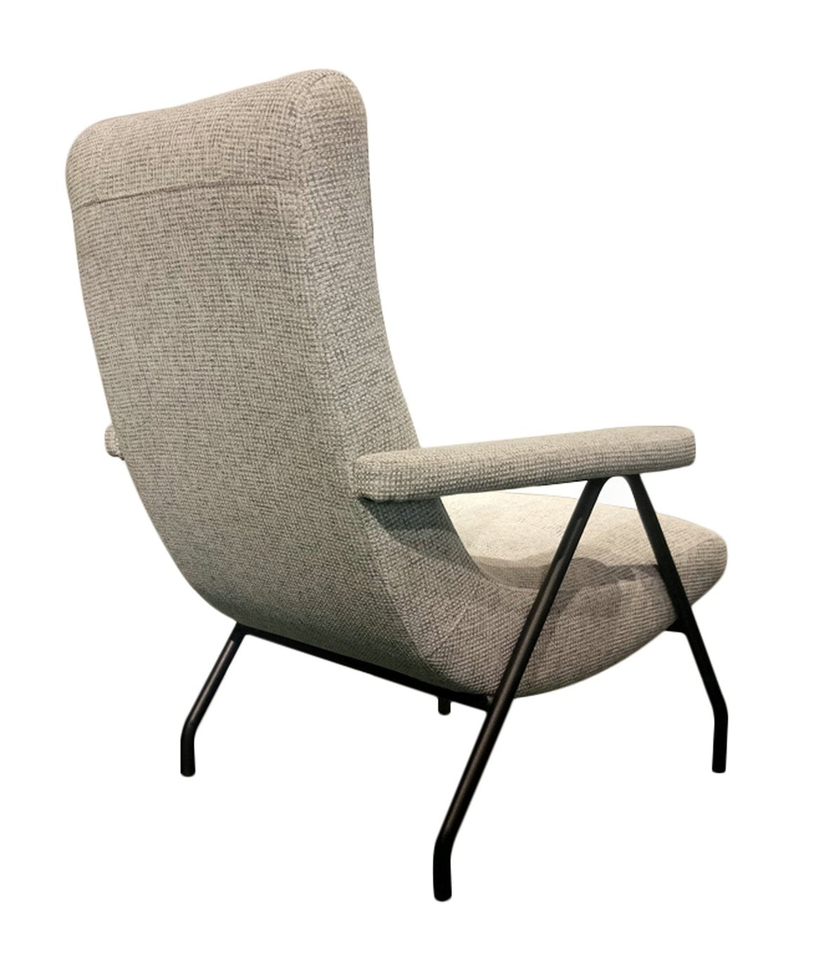 Picture of Retro Lounge Chair - Light Grey Tweed