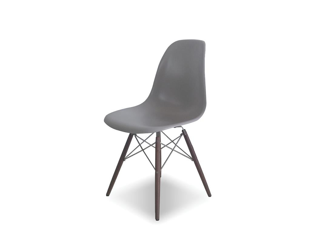 Picture of Privo Dining Chair - Matte Grey with American Walnut Base