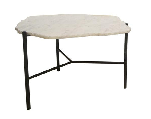 Earth Wind & Fire Sculpture Coffee Table - White Marble