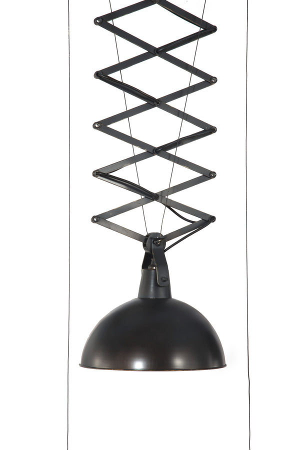 Antique black gold modern height adjustable ceiling lamp