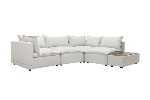Fissle Sectional - Yukon Grey