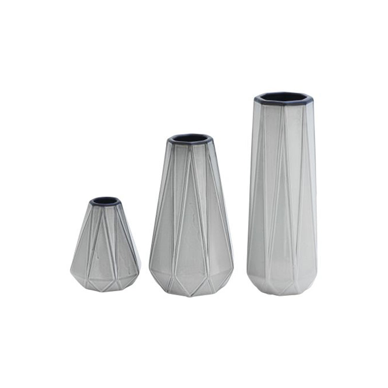 Picture of Faceted Ceramic Vases