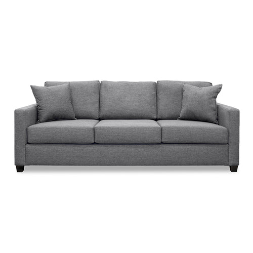 Modern Grey Fabric Sofa with 2 toss cushions