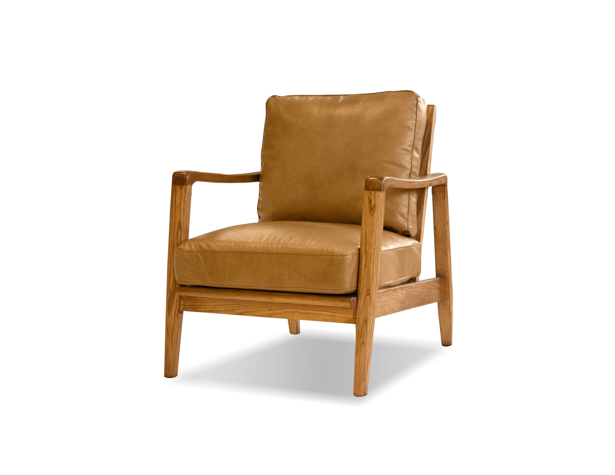 Picture of Craftsman Lounge Chair - Tan Leather