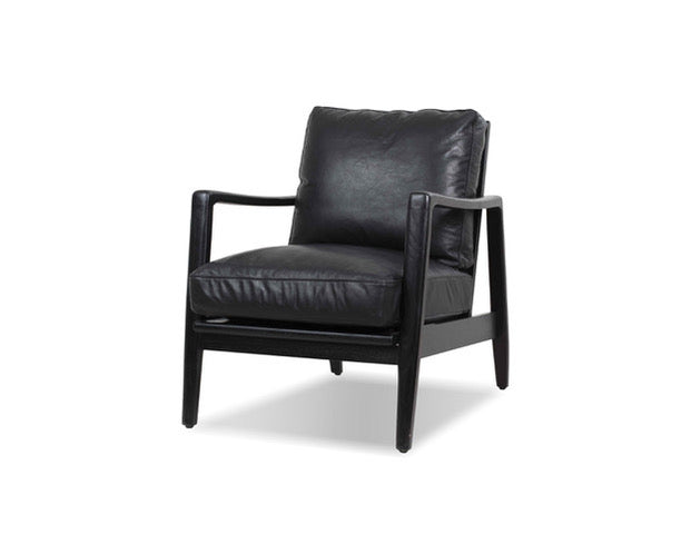 Picture of Craftsman Lounge Chair - Black Leather