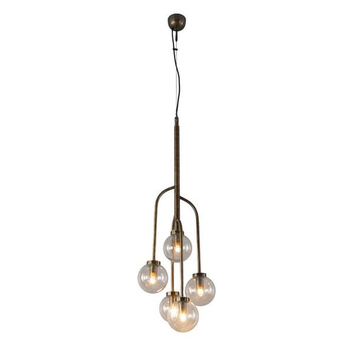 Lit Edison Chandelier - 5 Light