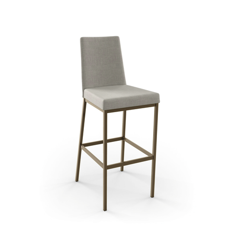 Modern upholstered counter stool with metal legs