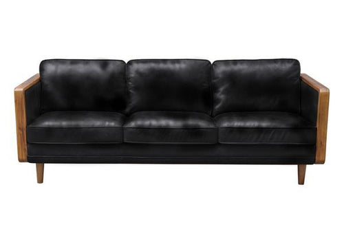 Las Vegas Mandalay Sofa - Oxford Black Leather