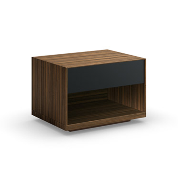 walnut modern night stand