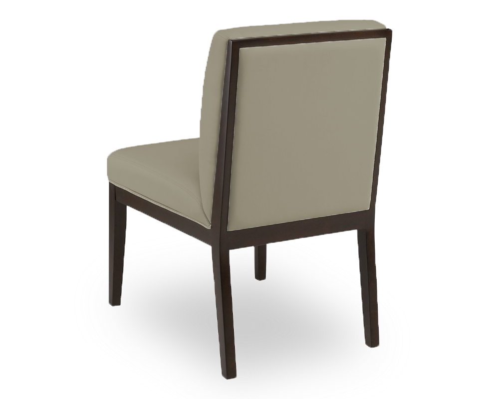 linen modern fabric dining chair with espresso wood frame
