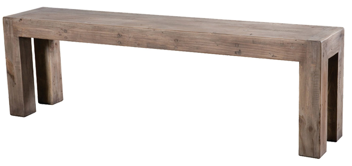 Post & Rail Bench - Sundried