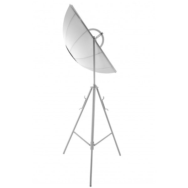 White modern floor lamp with a studio lighting look