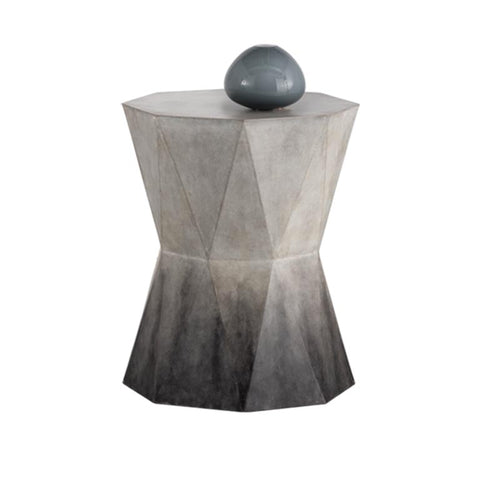 modern geometric concrete end table with Ombre Finish