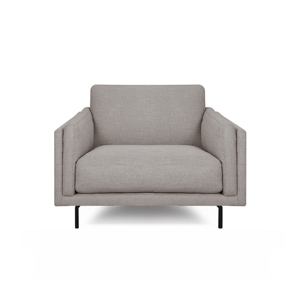 modern platinum grey fabric chair