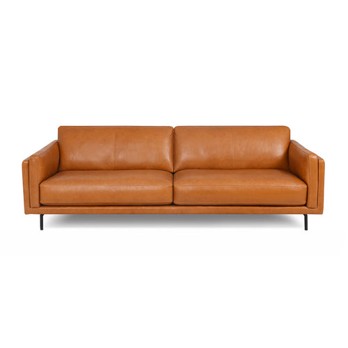 modern sierra saddle brown leather sofa