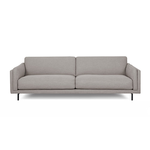 modern platinum grey fabric sofa