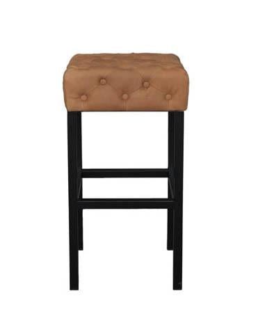 Picture of Rex Stool - Soft Brown leather