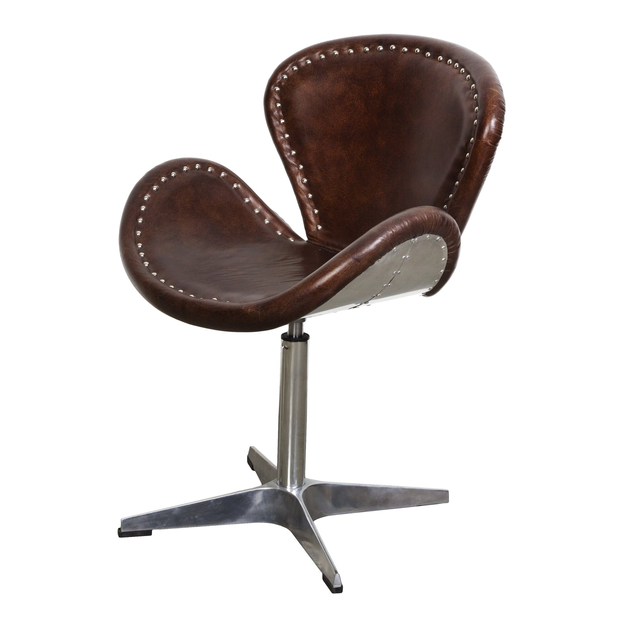 Picture of Mercury Swivel Chair - Vintage Brown Leather