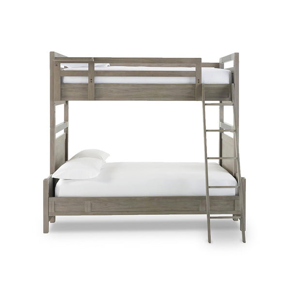 Modern Granite Grey Stained Twin Full Bunk Bed