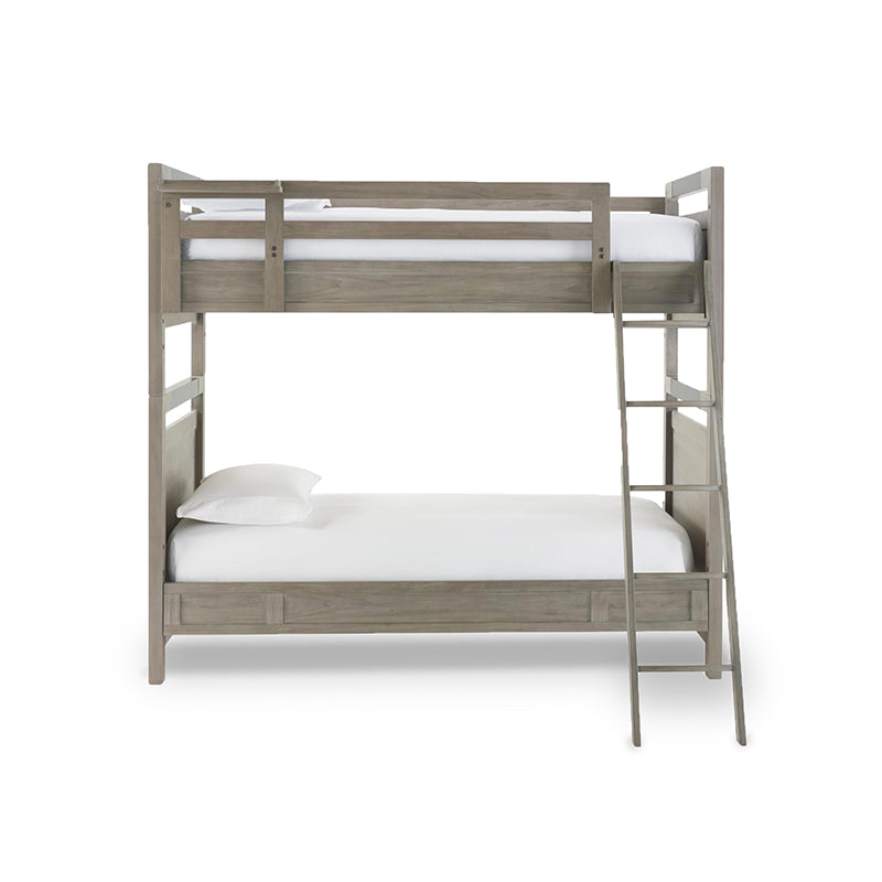 Modern Granite Grey Stained Twin Bunk Bed