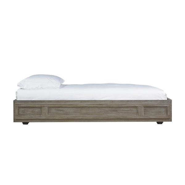 Modern pull out trundle bed with wheels in Granite Grey Stained Finish