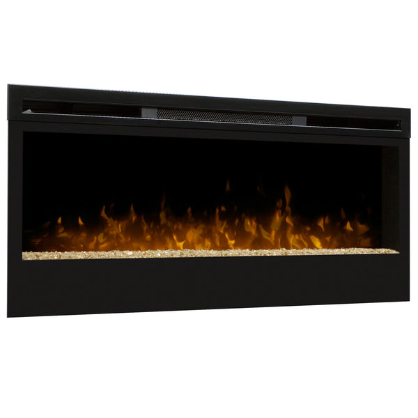 Black modern electric wall mounted fireplace
