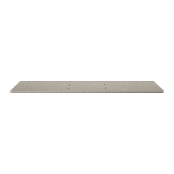 modern custom order concrete look table with metal base